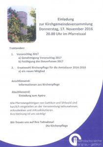 KGV 20161117 Einladung